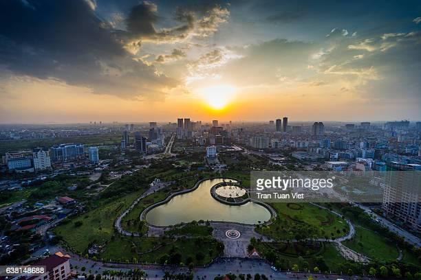 Western Hanoi Skyline, Ha Noi Cityscape, Sunset