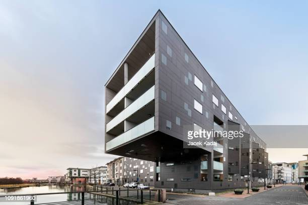 western harbour in malmo - architecture stock pictures, royalty-free photos & images