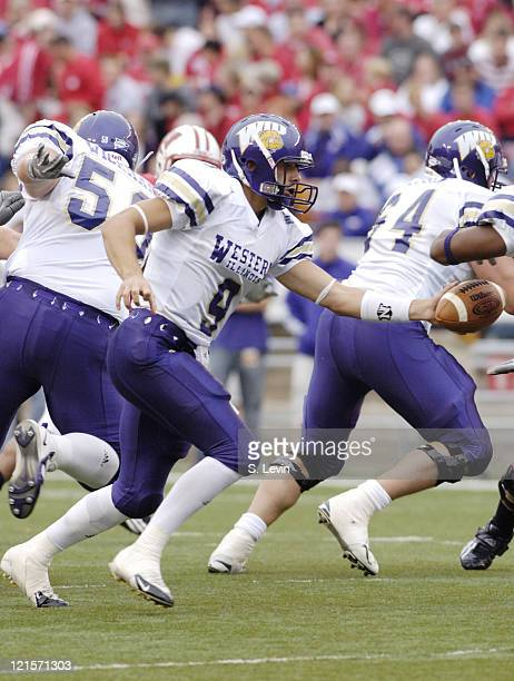 Western Illinois' quarterback Steve La Falce in action during the game between the Wisconsin Badgers and the Western Illinois Leathernecks at Camp...