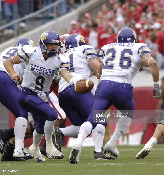 Western Illinois quarterback Steve LaFalce during the game between the Wisconsin Badgers and the Western Illinois Leathernecks at Camp Randall...