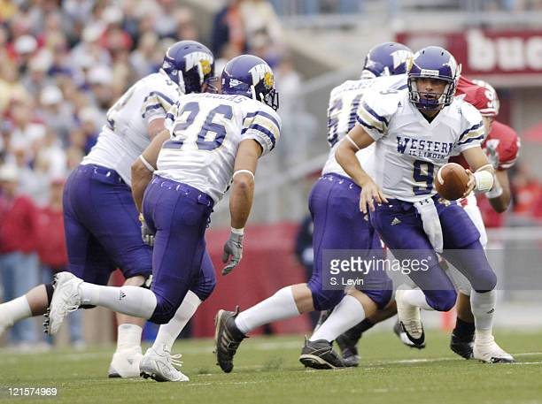 Western Illinois' quarterback Steve LaFalce in action during the game between the Wisconsin Badgers and the Western Illinois Leathernecks at Camp...