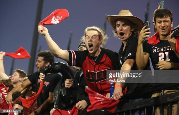 Western Kentucky Hilltoppers fans during the game against the Indiana Hoosiers at Houchens Industries-L.T. Smith Stadium on September 25, 2021 in...