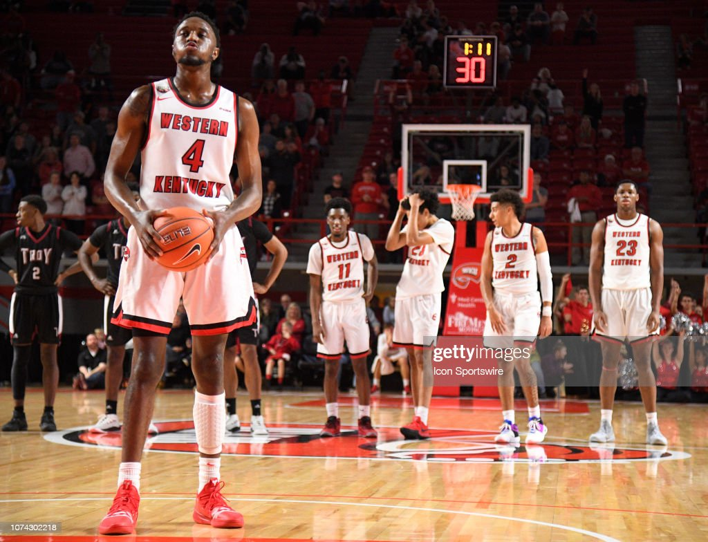 Western Kentucky Hilltoppers guard Josh Anderson stands a