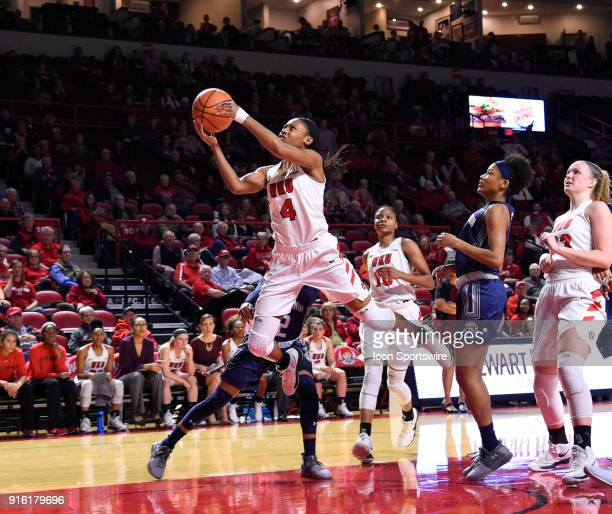 Western Kentucky Lady Toppers forward Dee Givens gets fouled as she drives the lane during the fourth period of the Old Dominion Lady Monarchs game...