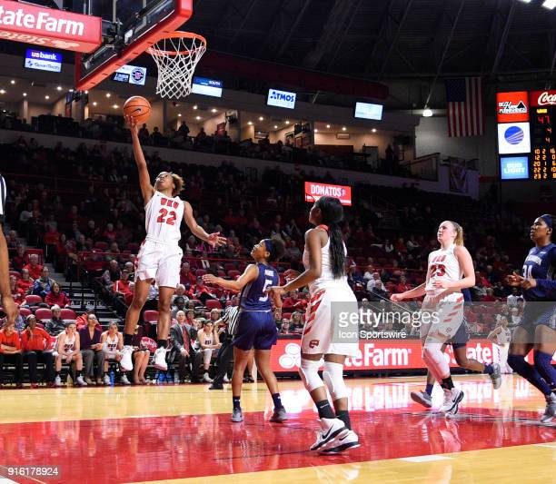 Western Kentucky Lady Toppers guard Sherry Porter gets the easy fast break basket during the third period of the Old Dominion Lady Monarchs game...