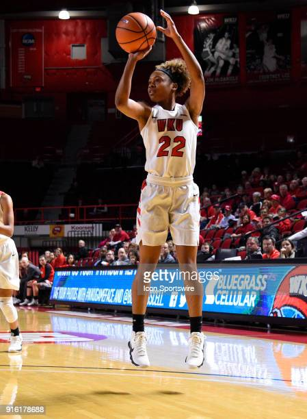 Western Kentucky Lady Toppers guard Sherry Porter takes a jump shot during the first period of the Old Dominion Lady Monarchs game versus the Western...
