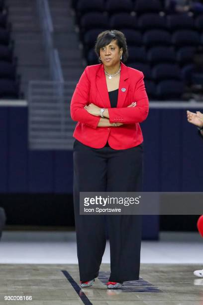 Western Kentucky Lady Toppers head coach Michelle ClarkHeard during the Conference USA Women's Basketball Championship game between the Western...