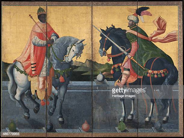 Western Kings on Horseback First third of 17th cen Artist Anonymous