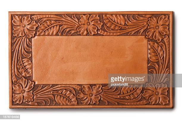 western leather background - wild west stock pictures, royalty-free photos & images
