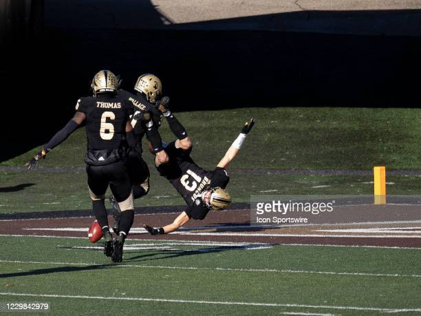 Western Michigan Broncos safety Harrison Taylor attempts to stop the football during the college football game between the Northern Illinois Huskies...