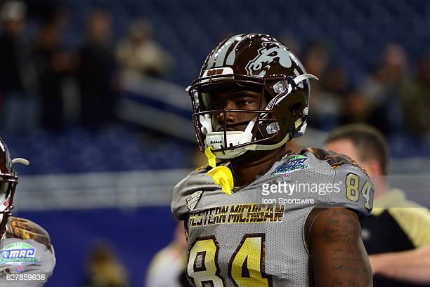 Western Michigan Broncos Wide Receiver Corey Davis warms up for the MAC Championship game between the Ohio Bobcats and the Western Michigan Broncos...