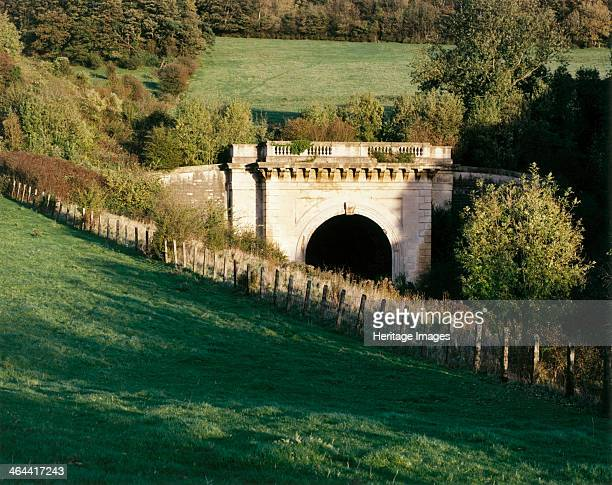 Western portal of Box Tunnel Wiltshire Box Tunnel designed by IK Brunel to carry the Great Western Railway under Box Hill was opened in 1841 The...