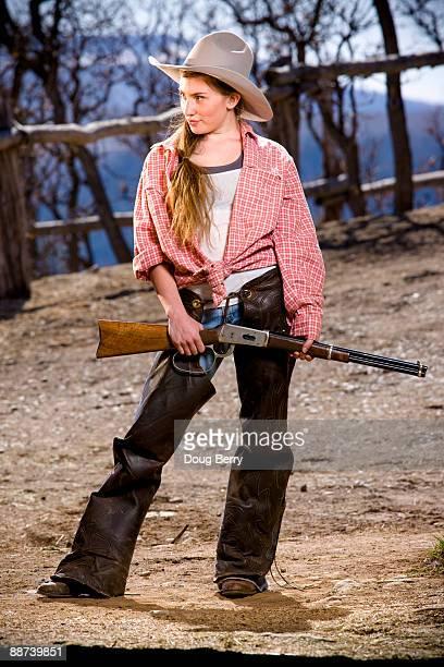 western portraits - cowgirl photos et images de collection