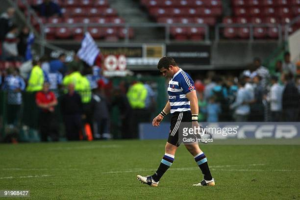 Western Province Luke Watson leaves after the Absa Currie Cup semi final match between Western Province and Blue Bulls at Newlands Stadium on the...