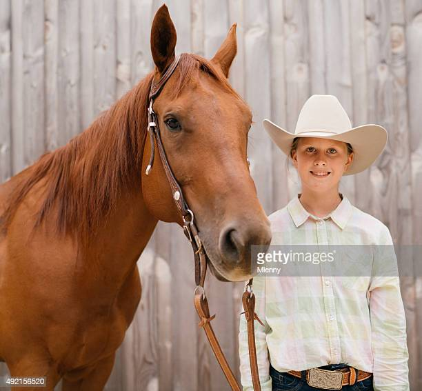 Western Riding Young Girl with her Horse
