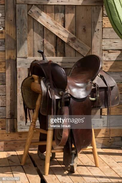 Western Saddle at the Barn