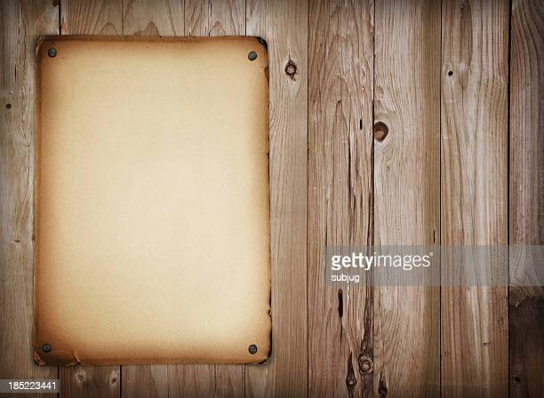 western style sign - old parchment background burnt stock photos and pictures