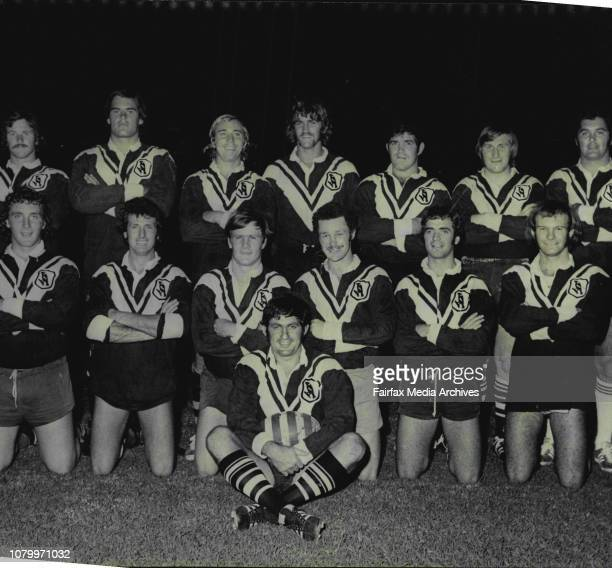 Western Suburbs Rugby League team at Lidcombe Oval tonight.Team pic of the Western Suburbs Rugby League Team.Standing : Robbie Parker, Stephen...