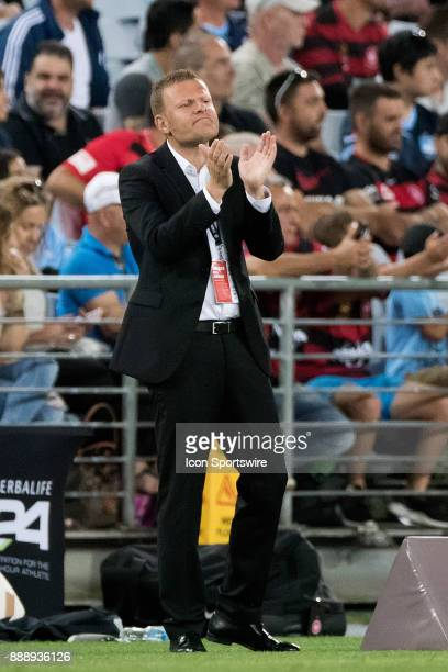 Western Sydney Wanderers coach Josep Gombau at the Hyundai ALeague match between Western Sydney Wanderers and Sydney FC on December 09 2017
