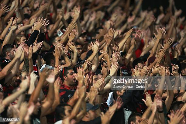 Western Sydney Wanderers crowd in Wanderland chant in the match against Ulsan Hyundai at Parramatta Stadium Sydney Australia Wednesday 26th February...