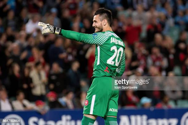 Western Sydney Wanderers goalkeeper Vedran Janjetovic happy after their goal at the Hyundai ALeague match between Sydney FC and Western Sydney...