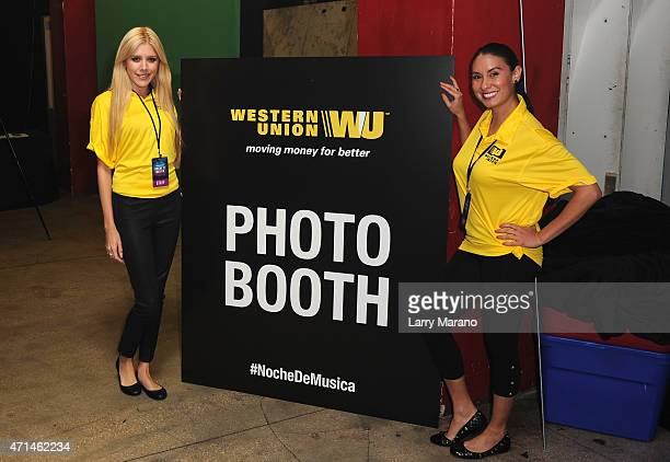 Western Union display at Noche De Musica Powered by Pandora at Grand Central on April 28 2015 in Miami Florida