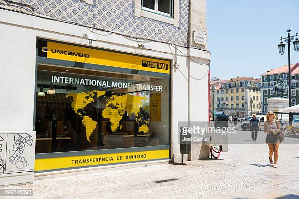 western union in lisbon - money transfer stock pictures, royalty-free photos & images