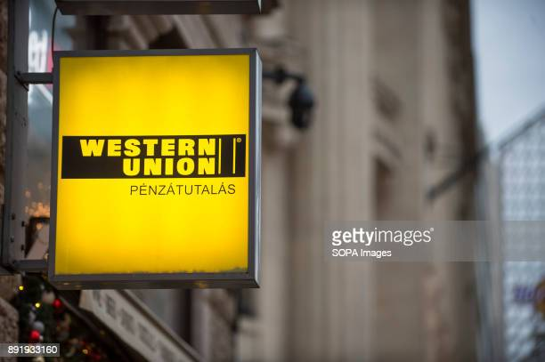 Western Union symbol is seen in Budapest