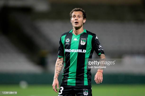 Western United midfielder Alessandro Diamanti looks on during the round 27 A-League soccer match between Western United FC and Melbourne City FC on...