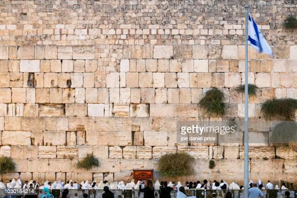 western wall, jerusalem, israel - muro de las lamentaciones fotografías e imágenes de stock