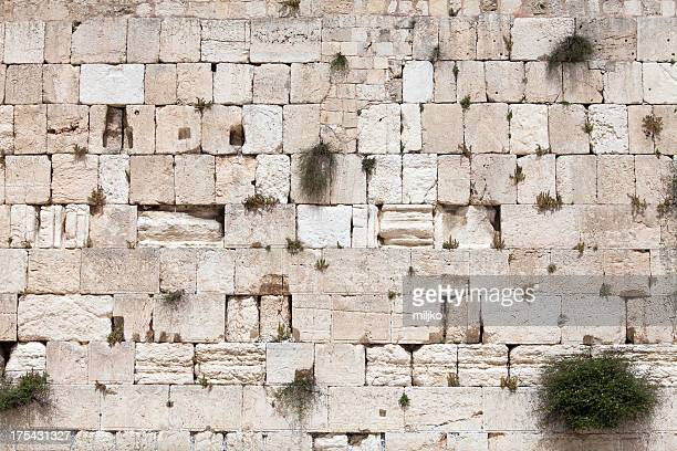 muralla occidental, jerusalén, israel - muro de las lamentaciones fotografías e imágenes de stock