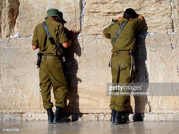 western wall - israeli military stock pictures, royalty-free photos & images
