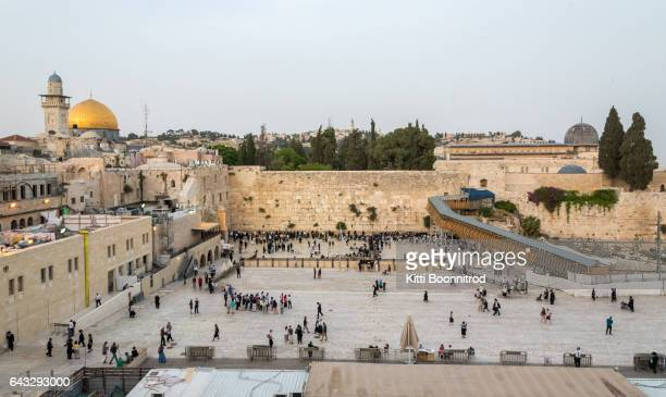 Western wall, the sacred place of Jewish in Jerusalem, Israel