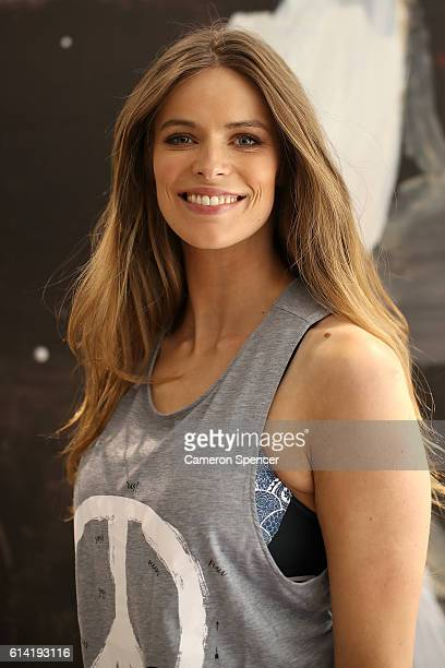 Westfield Beauty Wellness Ambassador Robyn Lawley poses ahead of hosting a spin class with her personal trainer Penny Walsh at Westfield Bondi...