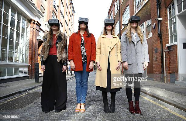 Westfield introduces world first Oculus Rift Virtual Reality headsets ahead of 'Future Fashion' an immersive popup experience on March 12 2015 in...