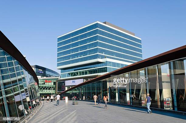 westfield shopping centre entrance, london - stratford london stock pictures, royalty-free photos & images