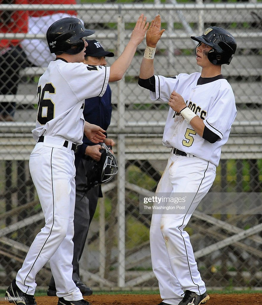 Westfield Teammates Johnny Gullette And Austin Redman 5 High Five News Photo Getty Images