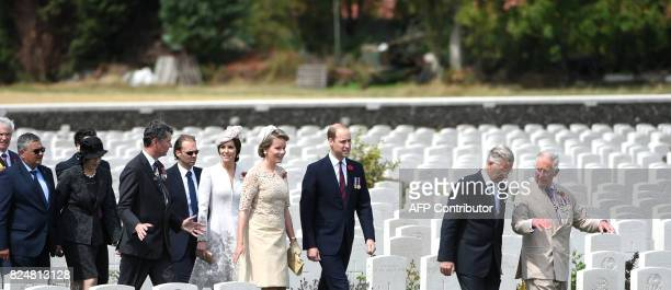 WestFlanders province governor Carl Decaluwe Belgium's Minister of Defence and Public Service Steven Vandeput British Prime Minister Theresa May Vice...