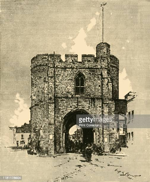 Westgate' 1898 The Westgate a medieval gatehouse in the city walls of Canterbury were built from Kentish ragstone circa 1379 and is Grade I listed...