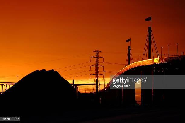Westgate Bridge Melbourne at sunset