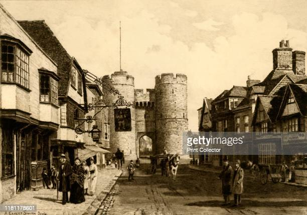 Westgate Canterbury' 1898 Grade I listed Westgate a medieval gatehouse in the city walls of Canterbury were built from Kentish ragstone circa 1379...