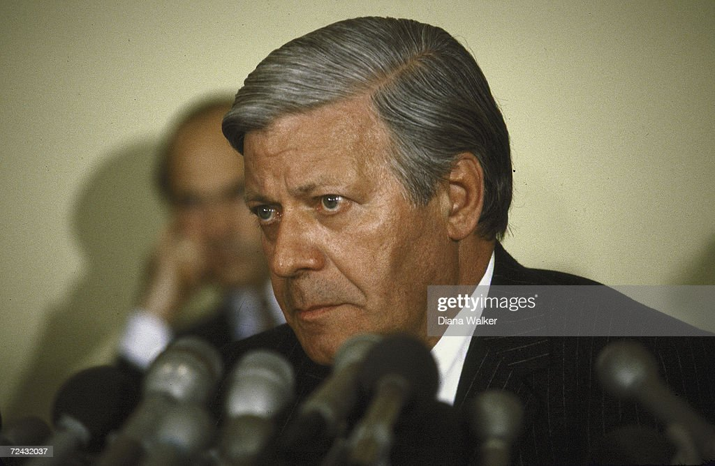 West-German Chancellor Helmut Schmidt.