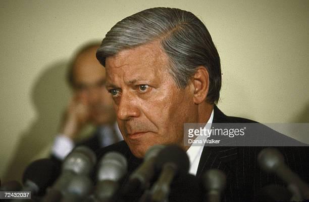 WestGerman Chancellor Helmut Schmidt