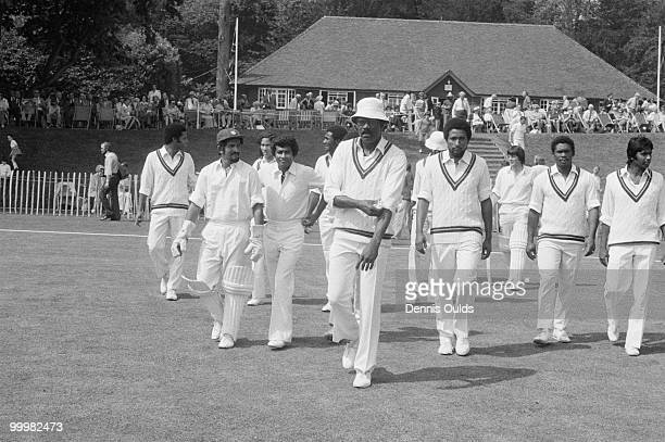 West-Indian cricket captain Clive Lloyd leads his team onto the field at Arundel before playing the Duchess of Norfolk's X11 in a 12-a-side match at...