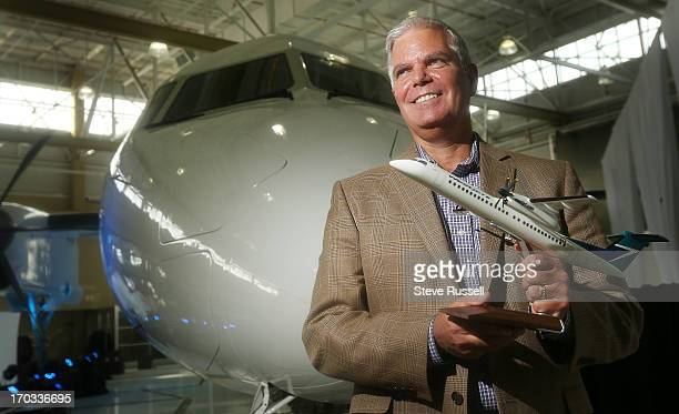 WestJet President and CEO Greg Saretsky was present as WestJet officials toured of the Bombardier manufacturing plant where the Q400 planes are made...