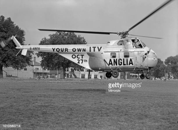 Westland WS55 Whirlwind Series 1 helicopter GANFH on charter from BEA to Anglia Television as part of their channel launch which took place on 27th...