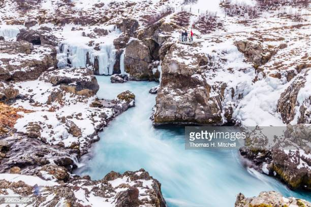 iceland-barnafoss-children's waterfall    west-land        travel        west iceland regions    ... - brook mitchell stock pictures, royalty-free photos & images