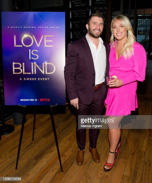 Westley Baer and Lexie Skipper attend the Netflix's Love is Blind VIP viewing party at City Winery on February 27 2020 in Atlanta Georgia