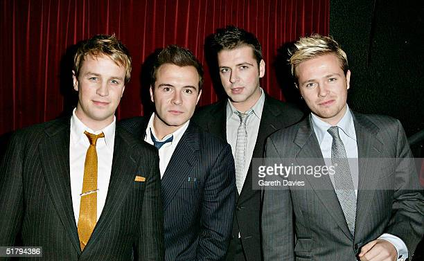 Westlife attend the after show party where Kevin Spacey sung 8 songs from the movie soundtrack following the UK Premiere of Beyond The Sea at Club...