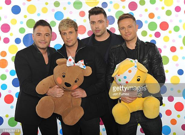 Westlife backstage during BBC Children in Need on November 18 2011 in London England
